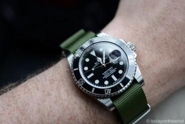 Rolex Submariner 116610 с ремешком нато