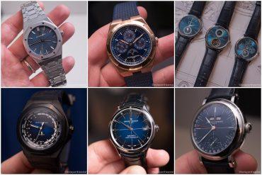часы с синими циферблатами на SIHH 2019